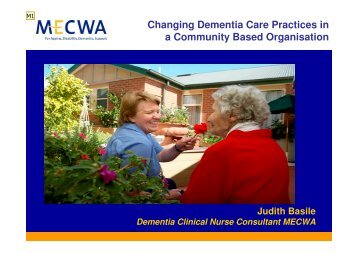 Changing Dementia Care Practices in a Community Based ...
