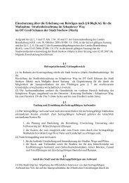 Einzelsatzung über die Erhebung von Beiträgen nach § 8 BbgKAG ...