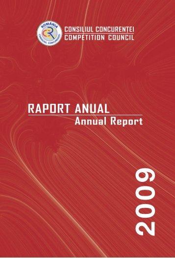 Raport anual 2009 - Consiliul Concurenţei