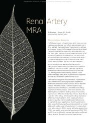 Renal Artery MRA - GE Healthcare