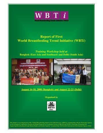 Report of First World Breastfeeding Trend Initiative (WBTi)