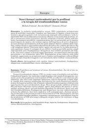 Nuovi farmaci antitrombotici per la profilassi e la terapia del ...