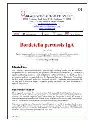 Bordetella pertussis IgA - ELISA kits - Rapid tests