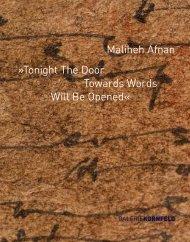 Maliheh-Afnan-Tonight…-Galerie-Kornfeld-Berlin-2014