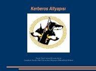 Kerberos Altyapısı - Çanakkale Onsekiz Mart Üniversitesi