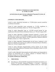 DECIZIA CONSILIULUI CONCURENTEI nr. 230 din 23.12.2005 ...