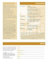 rsvp downtowns speakers - Landmark Society   of Western New York