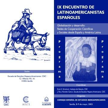 Díptico programa (PDF) - Escuela de Estudios Hispano-Americanos