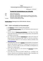 Protokoll als PDF - Weldergoven
