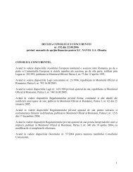 DECIZIA CONSILIULUI CONCURENTEI nr. 192 din 22.08.2006 ...