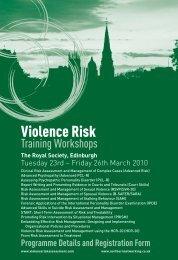 Violence Risk Training Workshops - Northern Networking Events