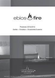 Preisliste 2012|2013 Solitär + Einsätze + Ersatzteile ... - Spartherm