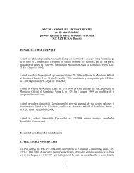 1 DECIZIA CONSILIULUI CONCURENTEI nr. 114 din 15.06.2005 ...