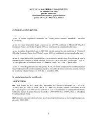 1 DECIZIA CONSILIULUI CONCURENTEI Nr. 160 din 25.08.2005 ...