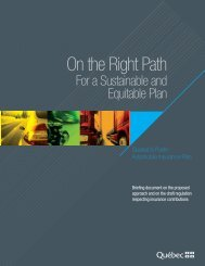 On the Right Path For a Sustainable and Equitable Plan