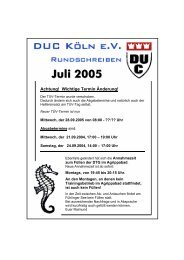 Juli 2005 - DUC Köln