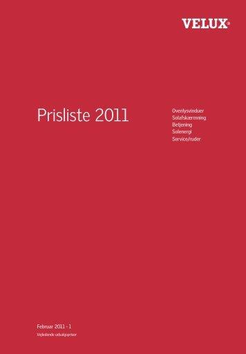 Prisliste 2011 - Velux