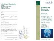 Brochure for seminar - Washington School of Psychiatry