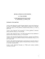 DECIZIA CONSILIULUI CONCURENTEI nr. 111 din 16.05.2006 ...
