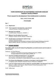 Programme - Workshop Rome 2002 - Malattie metaboliche.it