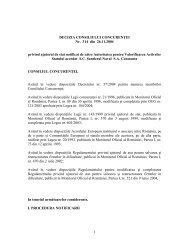 1 DECIZIA CONSILIULUI CONCURENÅ¢EI Nr. 314 din 26.11.2004 ...