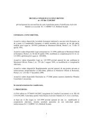 1 DECIZIA CONSILIULUI CONCURENTEI nr. 153 din 12.08.2005 ...