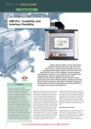 HMI-PLC: Scalability and Interface Flexibility - Moeller Electric Parts