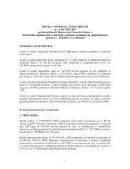 1 DECIZIA CONSILIULUI CONCURENTEI nr. 11 din 28.01.2005 ...