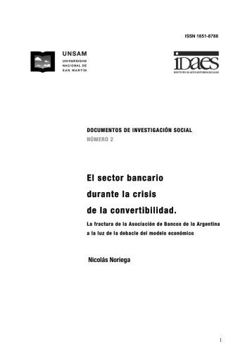 El sector bancario durante la crisis de la convertibilidad.