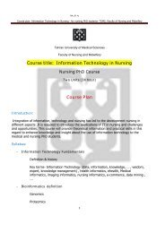 Course title: Information Technology in Nursing Course Plan