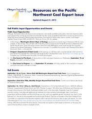 Resources on the Pacific Northwest Coal Export Issue - Ecumenical ...