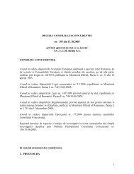 1 DECIZIA CONSILIULUI CONCURENTEI nr. 193 din 13.10.2005 ...