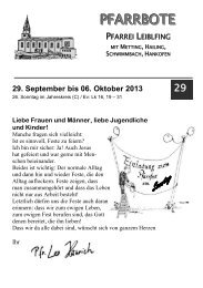 PFARRBOTE - Pfarrei Leiblfing