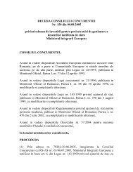 DECIZIA CONSILIULUI CONCURENTEI Nr. 150 din 09.08.2005 ...
