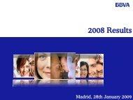4Q08 Results Presentation - BBVA
