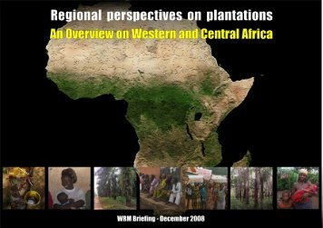 Oil palm and rubber plantations in Western and Central Africa