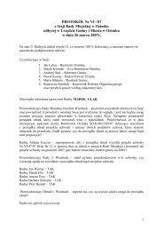 PROTOKÓŁ Nr VI / 07 z Sesji Rady Miejskiej w Ozimku odbytej w ...