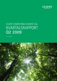 kvartalsrapport Q2 2009 Client Computing Europe ASA.pdf - Netfonds