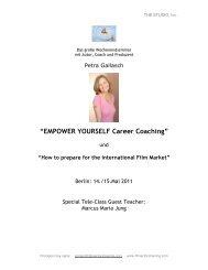 Den Flyer zum EMPOWER YOURSELF Career Coaching inkl ...