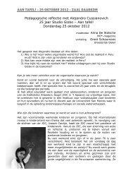 Verslag van het gesprek met Alejandro Cussianovich - Studio Globo