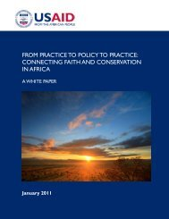 From Practice to Policy to Practice - Alliance of Religions and ...
