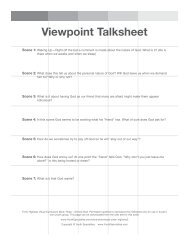 Viewpoint Talksheet - Youth Specialties