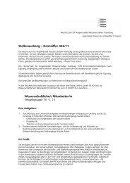 Stellenaushang – Kennziffer 046/11 Wissenschaftliche/r Mitarbeiter ...