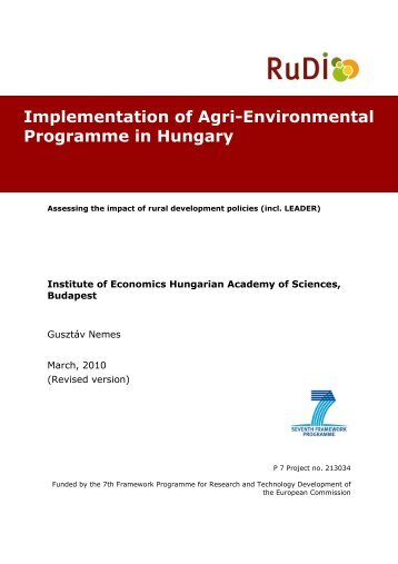 Implementation of Agri-Environmental Programme in Hungary - RuDI