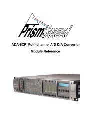 Prism Sound ADA-8XR Module Reference - Test and Measurement ...
