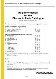 Help Information for the Electronic Parts Catalogue
