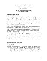 1 DECIZIA CONSILIULUI CONCURENTEI nr. 5 din 18.01.2006 ...
