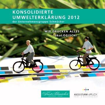 konsolidierte umwelterklärung 2012 - EMAS