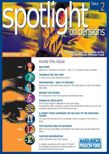 spotlighton pensions spotlighton pensions - MMC UK Pensions