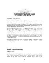 1 D E C I Z I A   CONSILIULUI CONCURENTEI nr. 9 din 21.01.2005 ...